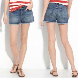 Current Elliott Boyfriend Denim Jeans Shorts Loved